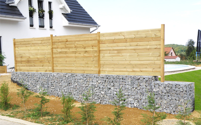 Pose de clôture  DL Jardin ~ Pose De Palissade Bois