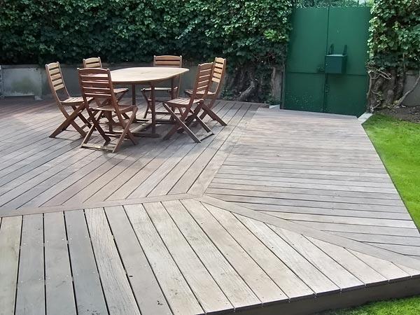 Terrasse en bois et pavagedl jardin am nagement et - Plancher bois terrasse exterieur ...